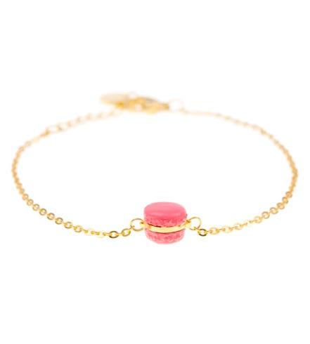 Maqaroon €20 - Tiny Raspberry Macaron Delicate Bracelet http://bit.ly/1EoBJtk