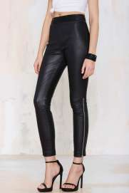 Nasty Gal €252.41 - Against the Machine Leather Skinny Pants