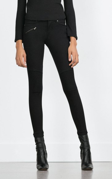Zara €39.95 - Powerstretch Biker Trousers http://bit.ly/1R7jJGX