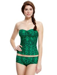 Marks & Spencer from €11 - Limited Edition Faux Snakeskin Print Tankini Set http://bit.ly/1zLZJQF