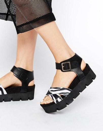 Daisy Street €33.77 - Black Zebra Flatforms http://bit.ly/1LIk52N