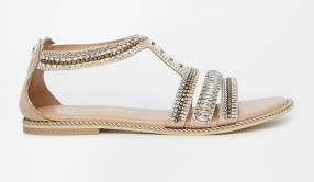 River Island €60.81 - Sead Heavily Embellished Flat Sandals http://bit.ly/1AaBTNe