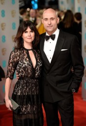 Mark Strong & wife