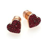 Michael Kors €60.22 - Brilliance Rose Pavé Heart Stud Earrings http://bit.ly/16yBb6d