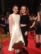 My friend, model Mei Ling with my cousin, designer Alice Langton