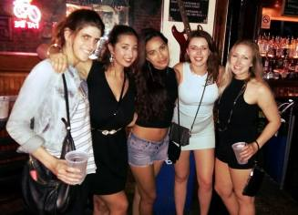 (L-R) Caroline, myself, Tanya, Chloe & Sarah on our girls night in Dirty 6th Street