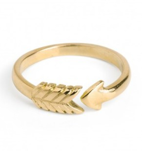 Chupi €99 - Cupid's Arrow Ring in Gold http://bit.ly/1GHSwcl