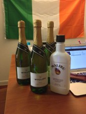 Wycliff Brut Champagne & Malibu, ordered from Brewdrop app (US only) http://apple.co/1bjTaPE