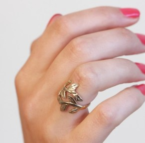 Chupi €99 - Wrap Your Laurels Around Me Ring http://bit.ly/1bUx0V3