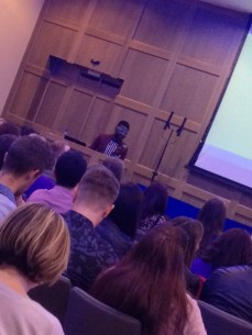 Timi giving his talk