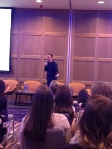 Darragh Doyle giving his talk