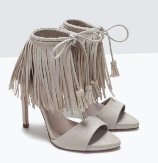 Zara €49.99 - Fringed High Heels http://bit.ly/1BrdJFZ