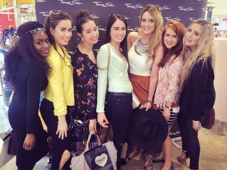 (L-R) Filomena, Jessika, myself, Mei Ling, Lorna, Kate and AJ