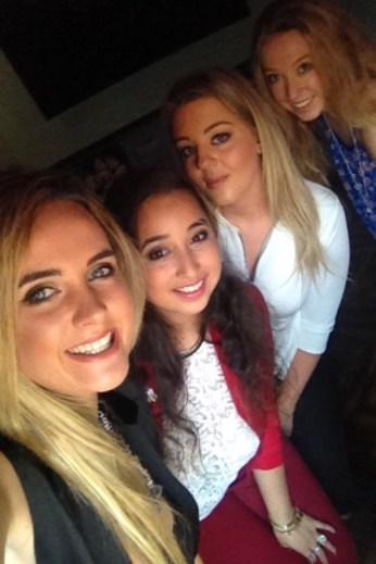 L-R Lorna, myself, Jennifer and Aisling