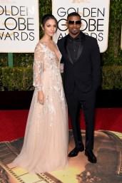 Miss Golden Globe Corinne & father Jamie Foxx