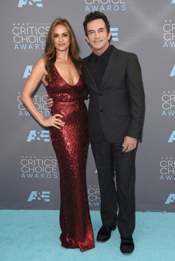 Lisa Ann Russell & TV personality Jeff Probst