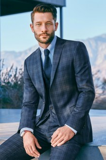 Next from €69 - Blue Check Slim Fit Suit http://bit.ly/1nONJ1Z