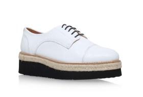 Carvela €150 - Lila White Flatform Brogue Shoes http://bit.ly/1WvmSmw