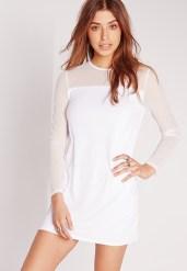 Missguided €28 - Mesh sleeve t-shirt dress http://bit.ly/1S8tcwJ