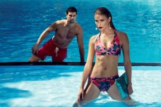 BIBA Hibiscus Goddess twist bikini top €39, briefs €23.40