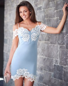 Lipsy @ Next €101 - Love Michelle Keegan Lace Bardot Dress http://bit.ly/28IslaP