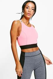 Boohoo Ruby Strappy Back Performance Sports Bra, €14 http://www.boohoo.com/new-in/ruby-strappy-back-performance-sports-bra/invt/dzz63176