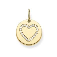 Thomas Sabo €59 - Gold Heart Disc Pendant http://www.thomassabo.com/EU/en_IE/pd/pendant/LBPE0005.html