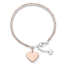 Thomas Sabo €139 - Love Bridge Sterling Silver & Rose Gold Heart Bracelet http://www.thomassabo.com/EU/en_IE/pd/bracelet/LBA0102.html