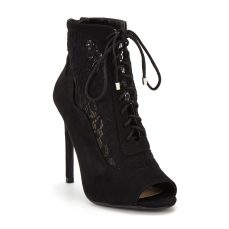 V by Very €52 - Corinne Lace Peep Toe Shoe Boots http://bit.ly/2mkp2xk