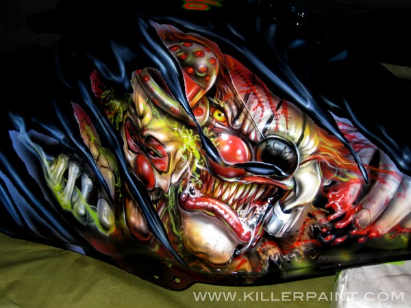 Custom Motorcycle Airbrush Paint Jobs