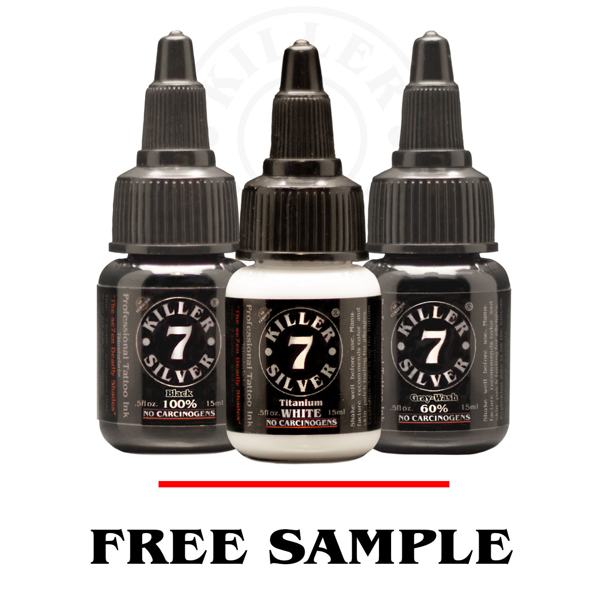 Free Sample - Gray-Wash Tattoo Ink - Killer Silver