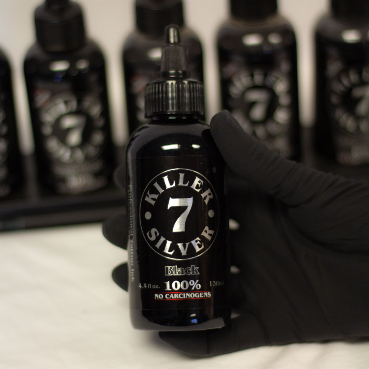 Killer Silver-Black 100%-Tattoo Ink-4.4 oz.-Pitch Black Perfection