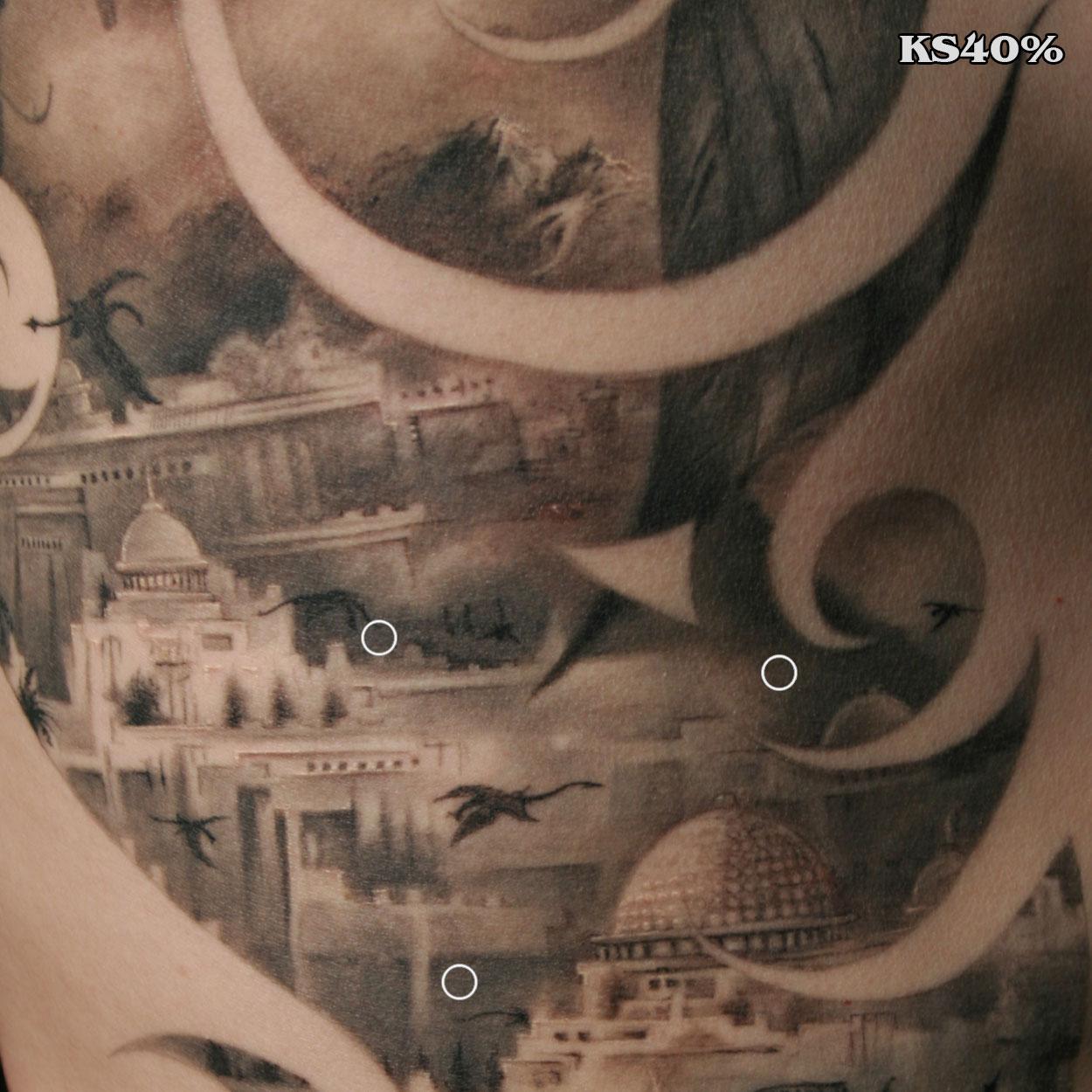 Caesar's land Tattoo-Killer Silver 40%-Gray-Wash-Tattoo Ink-Charcoal Gray