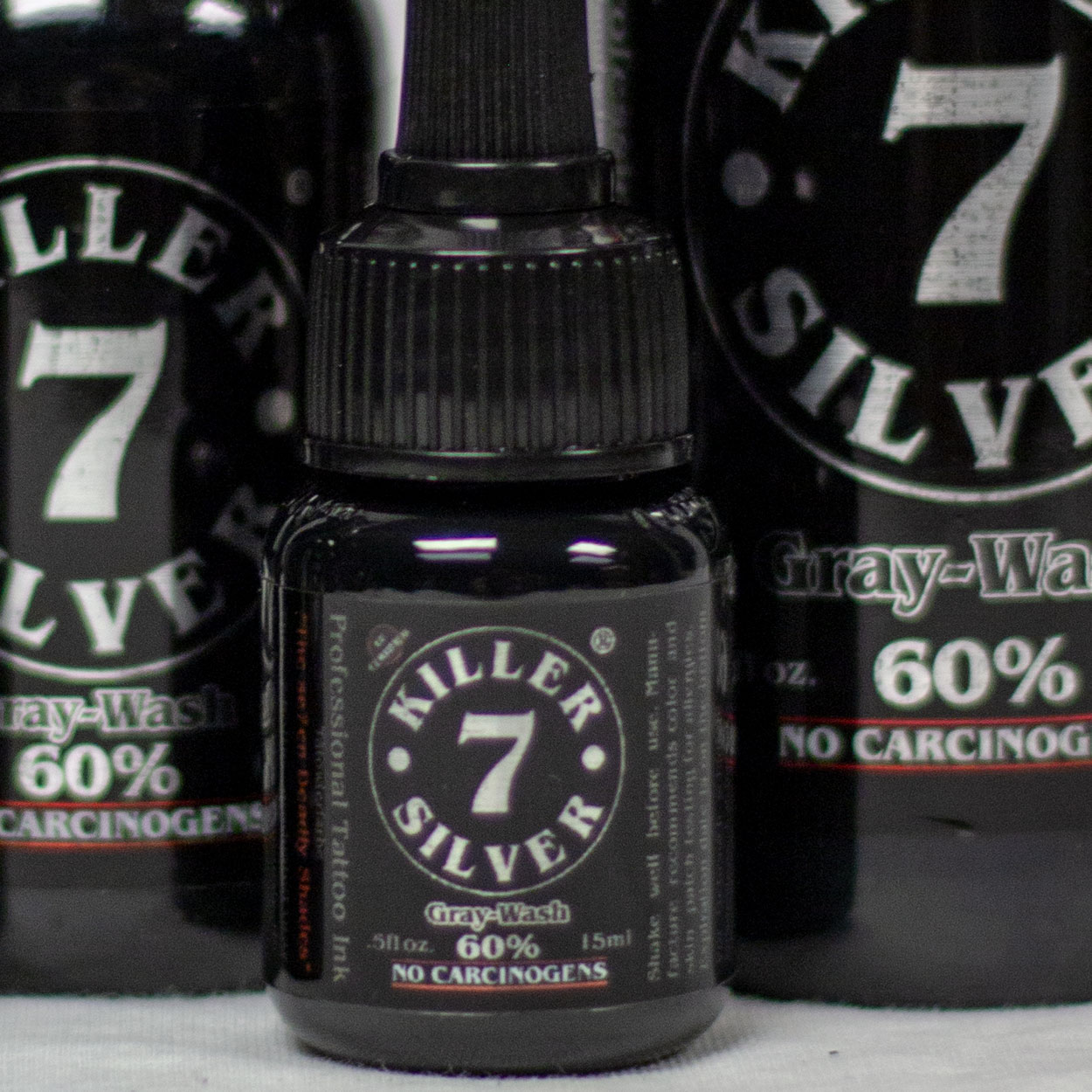Killer Silver 60%-Gray-Wash-Professional Tattoo Ink-Deep Midnight Gray