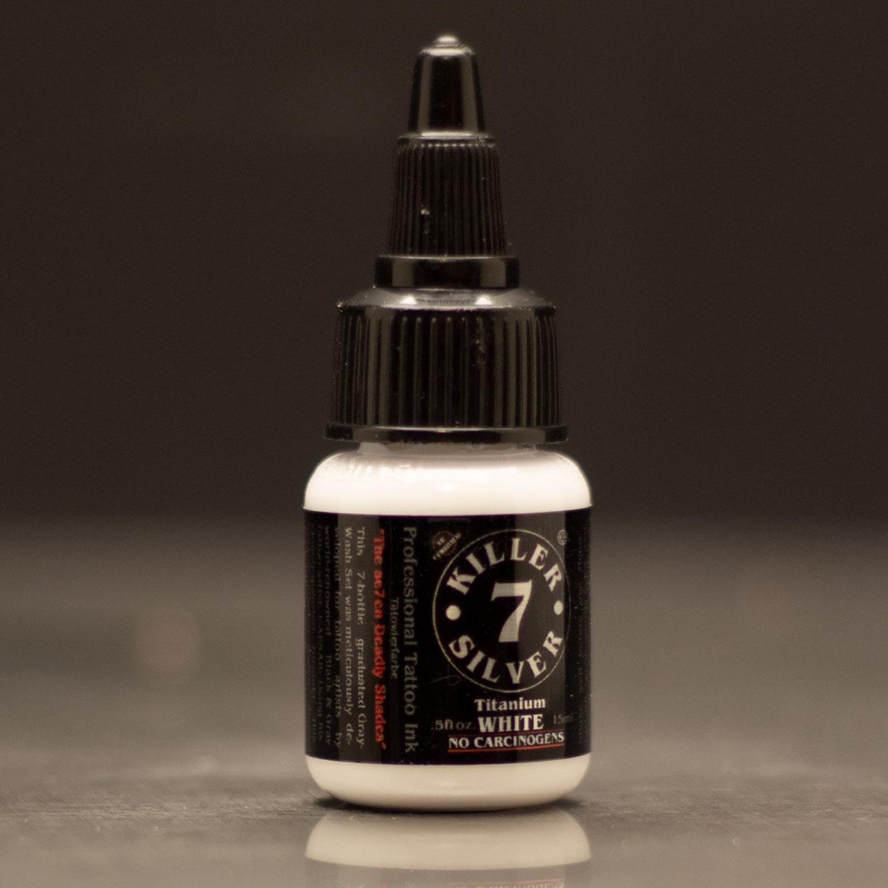 Titanium White-Professional Tattoo Ink-0.5 oz-Killer Silver