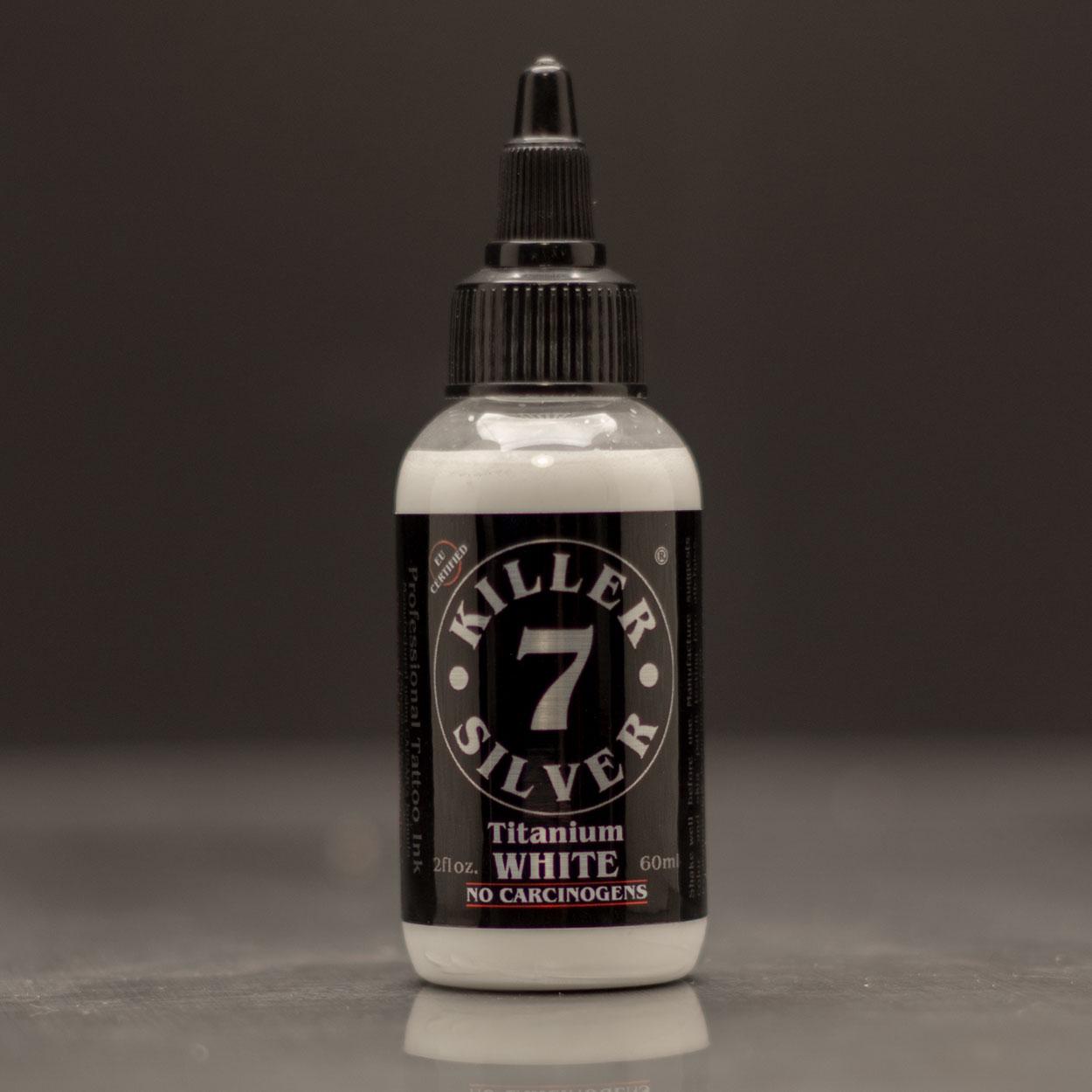 Titanium White-Professional Tattoo Ink-2 oz-Killer Silver