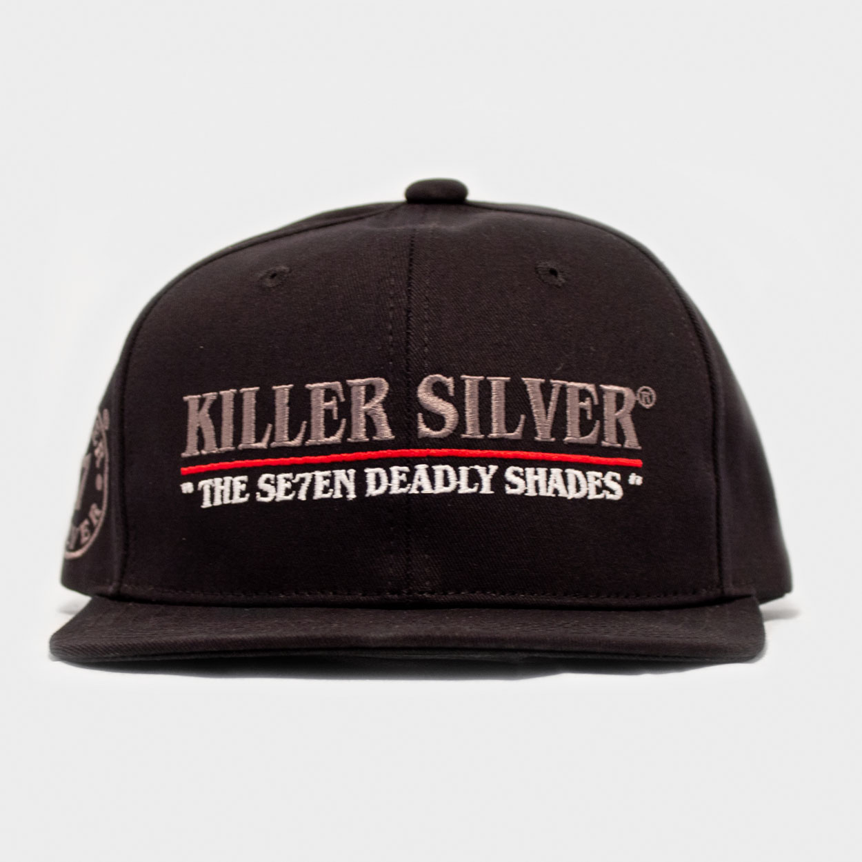 Snapback Hat-Flat Bill-Merchandise-Silver Thread-Killer Silver