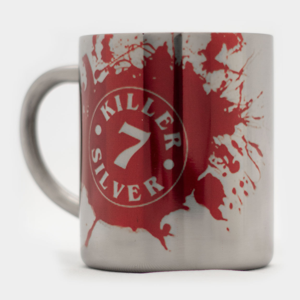 Metal Coffee Mug-RED Logo-Merchandise-KillerSilver