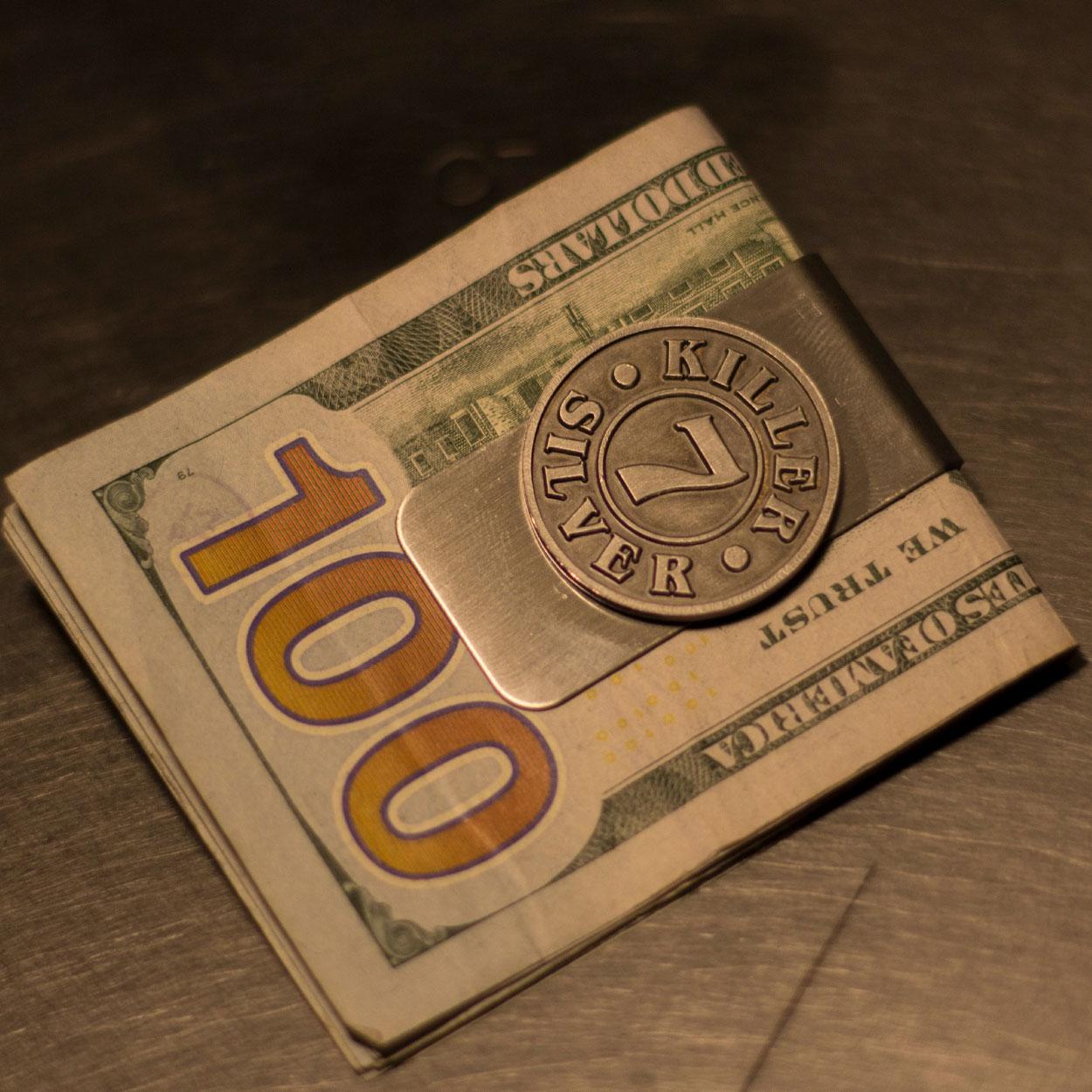 Money Clip -Merchandise-Killer Silver