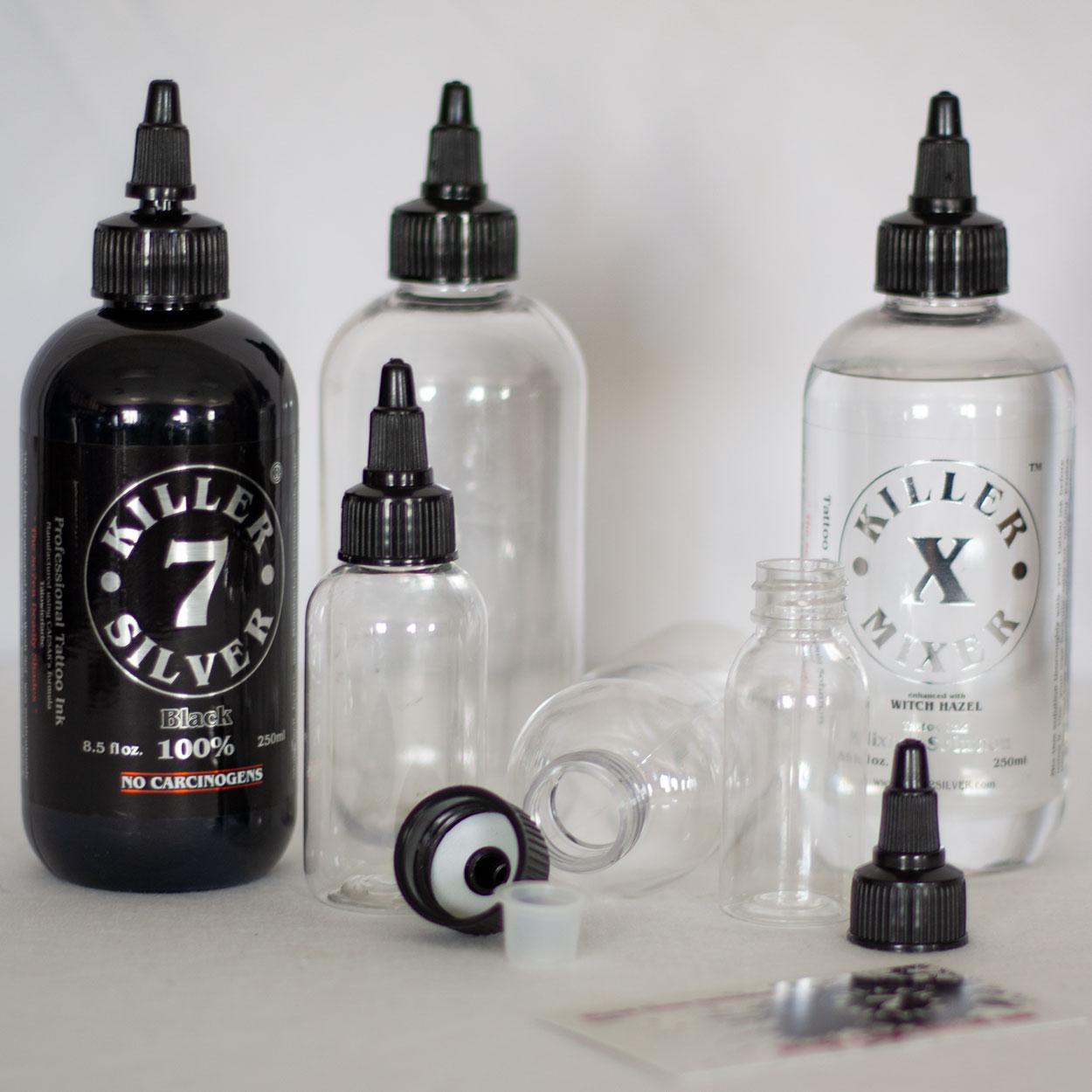 Empty Bottle - Boston Round - 4 sizes - Killer Silver