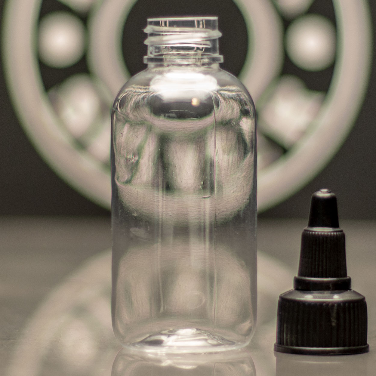 Empty Bottle - Boston Round - 2oz - Killer Silver