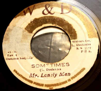 Lloyd Deslandes (aka Mr Lonely Man) - Sometimes