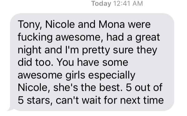 Nicole party review