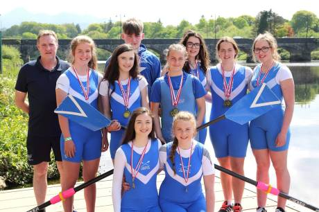 Medalists at Castleconnell Sprints Regatta 2017