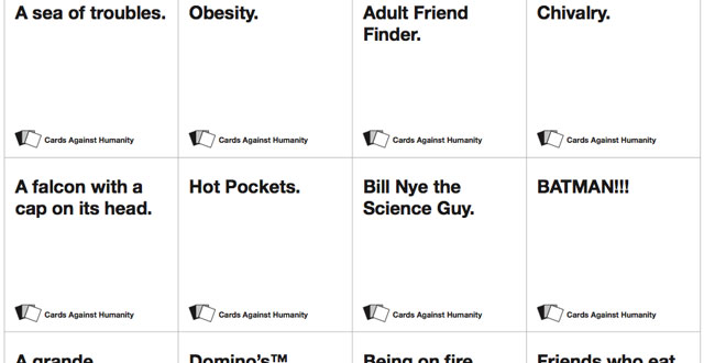 Random cards against humanity white card