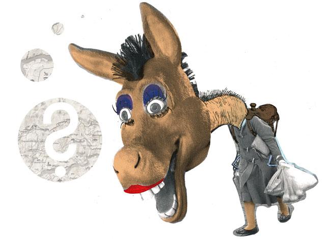 donkey-woman