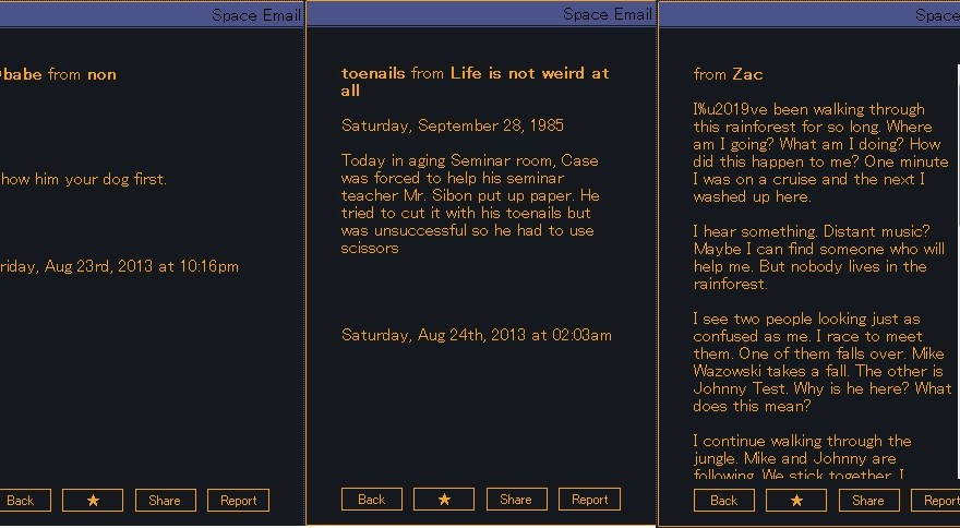 Space Email returns with all its absurdity, less the abuse - Kill Screen