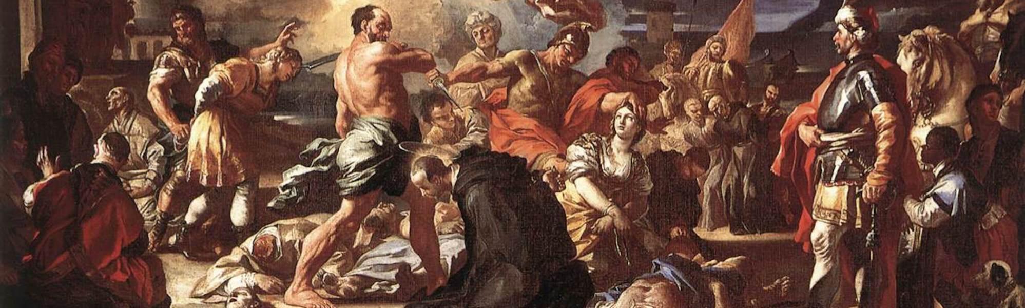 Solimena_Francesco_-_The_Martyrdom_of_Sts_Placidus_and_Flavia_-_1697-1708