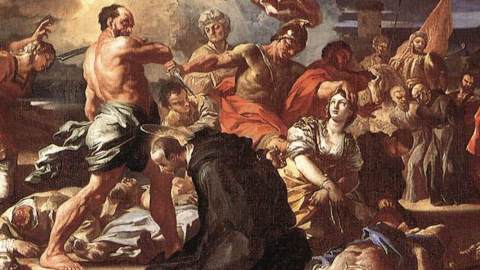 Solimena_Francesco_-_The_Martyrdom_of_Sts_Placidus_and_Flavia_-_1697-1708