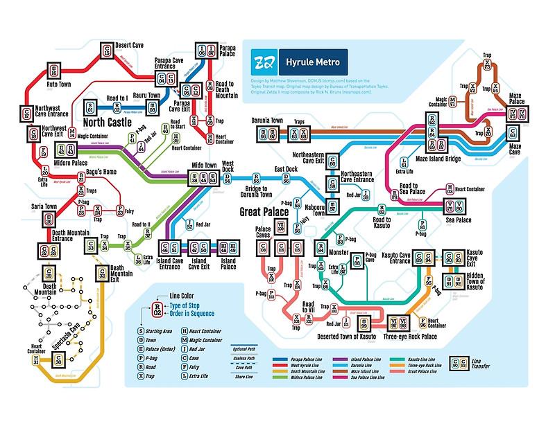 Hyrule subway map